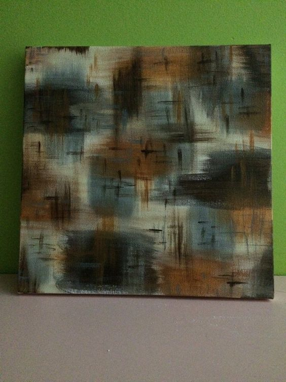A smaller canvas than I am used to but I like the plaid effect that happened.
