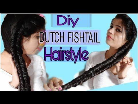 Diy Side Dutch Fishtail Braid Hairstyle Tutorial In Hindi Fishtail Braid Haircare Style Sec Dutch Fishtail Braid Fishtail Braid Hairstyles Braided Hairstyles