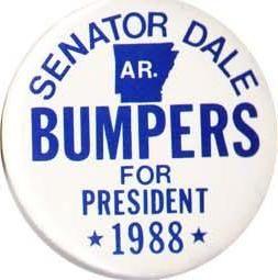 Senator dale bumpers 1992 campaign   Losing presidential candidate buttons and pins for also rans for ...
