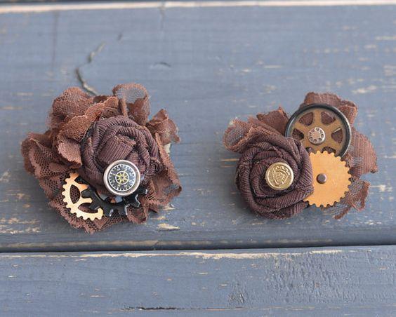 Brown and Brass Steampunk Wedding Fasciantor by LilyMairi on Etsy