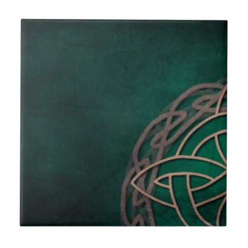 celtic knot on green background