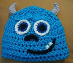 Monsters Inc inspired Sully crochet hat. gorros tejidos
