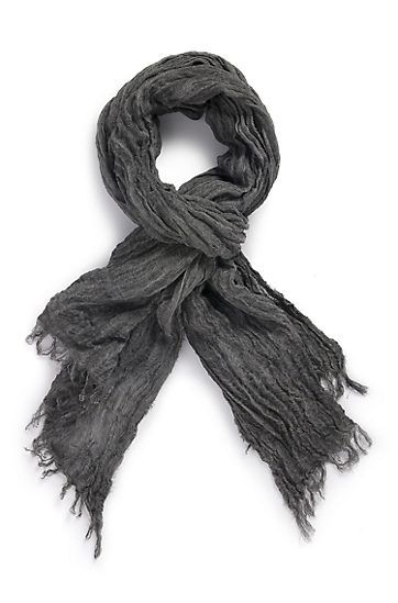 BOSS BLACK, Linen Crinkled Scarf