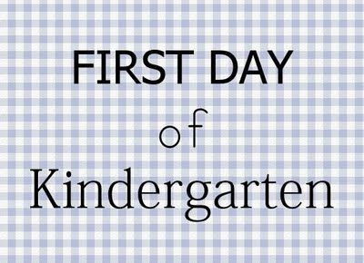 free printable. first day of kindergarten sign for a boy