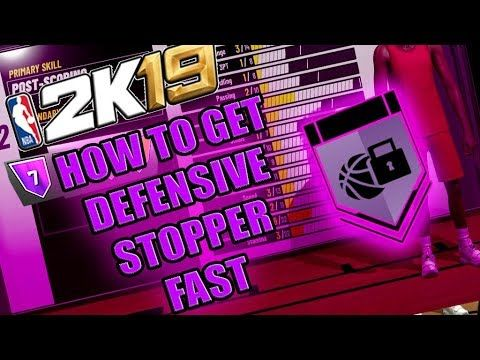 Fastest Way To Get Defensive Stopper Badge On Hall Of Fame Nba