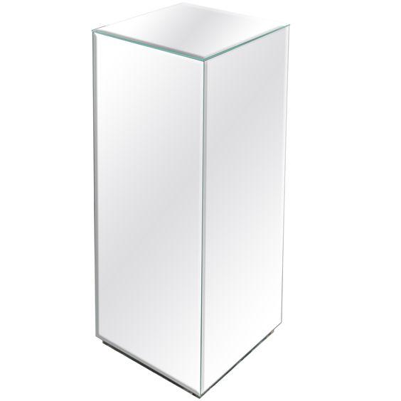 Modernist Hand Beveled Mirrored Pedestal