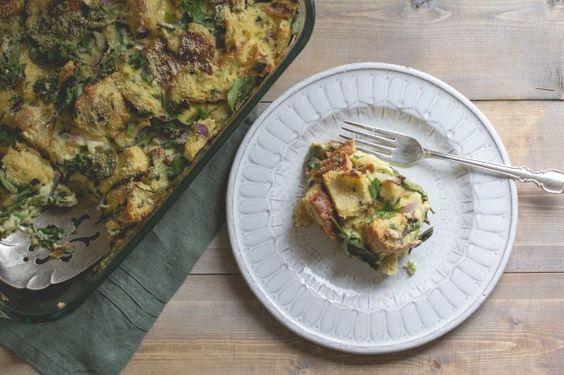 Spinach, Herb + Parmesan Breakfast Casserole