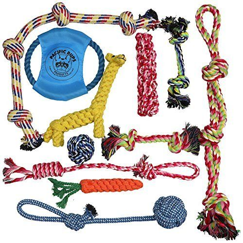 Pacific Pups Products Dog Rope Toys For Aggressive Chewers Tough