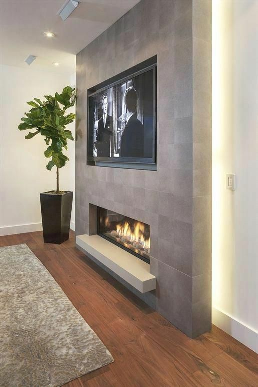 Pin By Lisa Wright On Otthon Basement Fireplace Fireplace Design Living Room Tv Wall