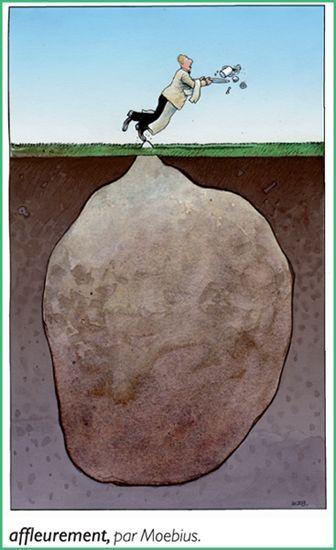Affleurement, par Moebius. Dessin extrait du Petit Larousse 2010.