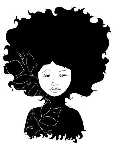Black and white graphic portrait