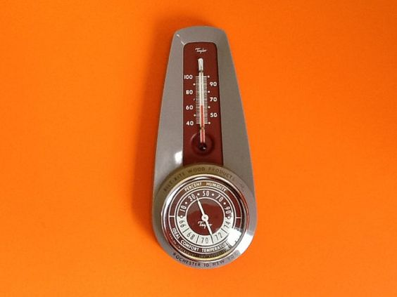 Taylor barometer taylor thermometer outdoor by Oldtreasures98,