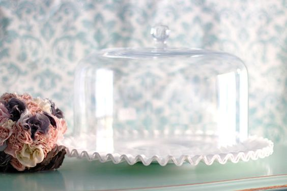 Vintage Cake Plate w/ Glass Cake Dome / by RocheStudioSupplies, $220.00
