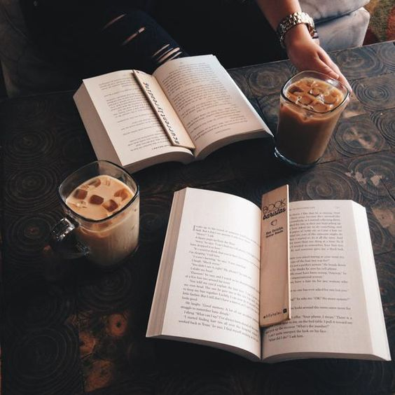 """bookbaristas: """"  Coffee date with hopelessbooklovers before she leaves me for Boston!! ☕️ We are digging our @lillytales bookmarks (check out the BB bookmark HERE!) Like on bookstagram 
