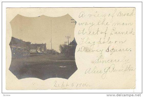 RP: Broadway , LARNED , Kansas , PU-1906 - Delcampe.com