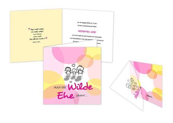 Hochzeitskarte+-+Wilde+Ehe+gezähmt