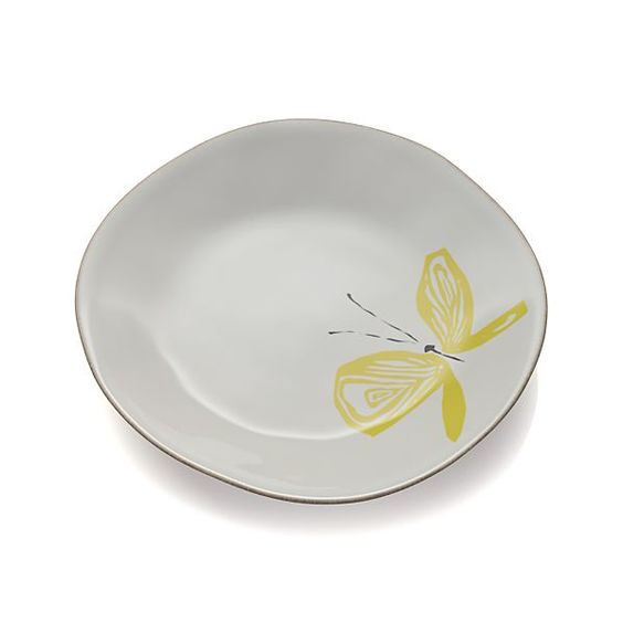 Marin Butterflies Salad Plate  | Crate and Barrel