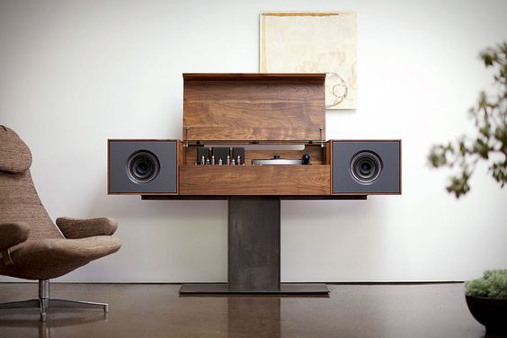 Symbol Record Console: Record Players, Sound System, Living Room, Symbol Record, Audio Modern