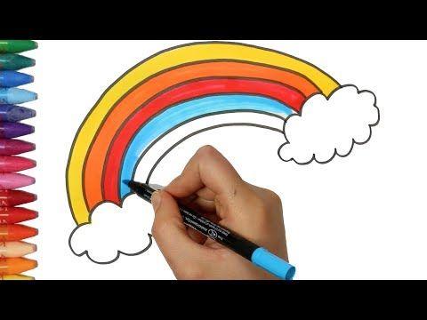 Come Colorare Un Disegno.Un Arcobaleno Come Disegnare E Colora Per I Bambini Youtube Arcobaleno Come Disegnare Disegni
