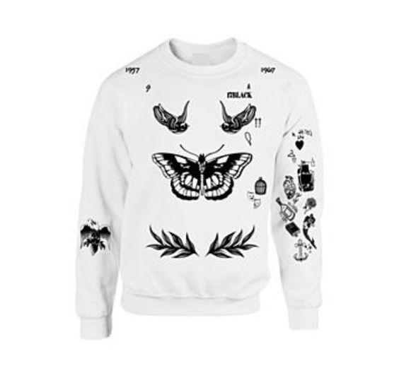 Harry styles tatoo hoodie