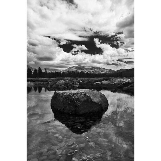 Tuolumne River Boulder great landscape