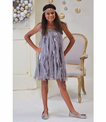 Biscotti Couture Dress for Tweens Silver Flapper  Tween Dresses ...