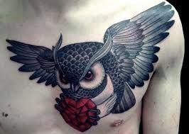 Resultado de imagem para coruja voando tattoo