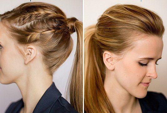 ponytail with  braids