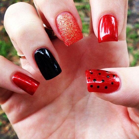 Halloween fall nail art OPI