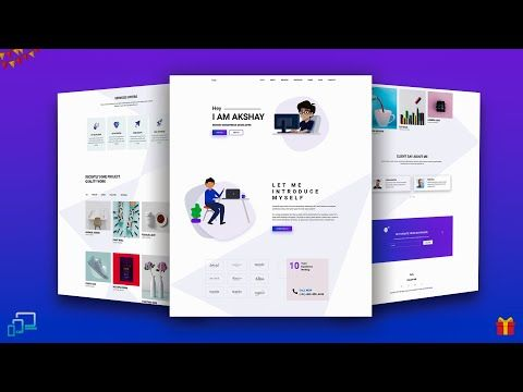 Complete Portfolio Website With Bootstrap Html Css Youtube Tuition Website Portfolio Website Web Development Resources