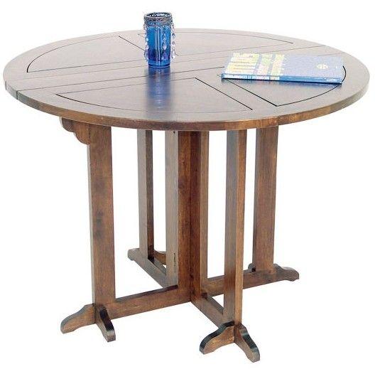 table ronde bois table de cuisine pliante