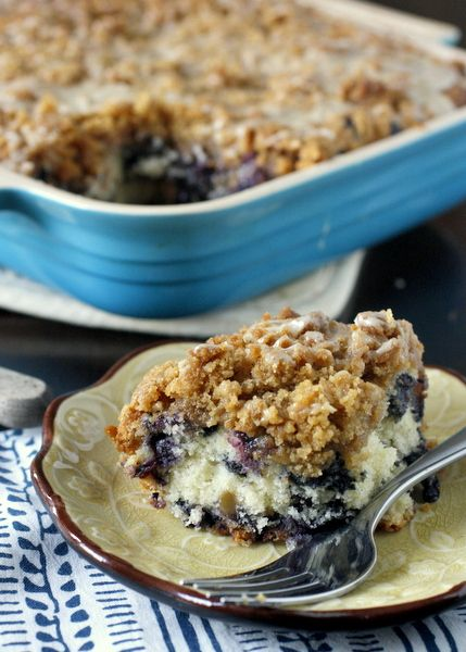 Blueberry Buckle with Lemon Glaze ~ What Megan's Making