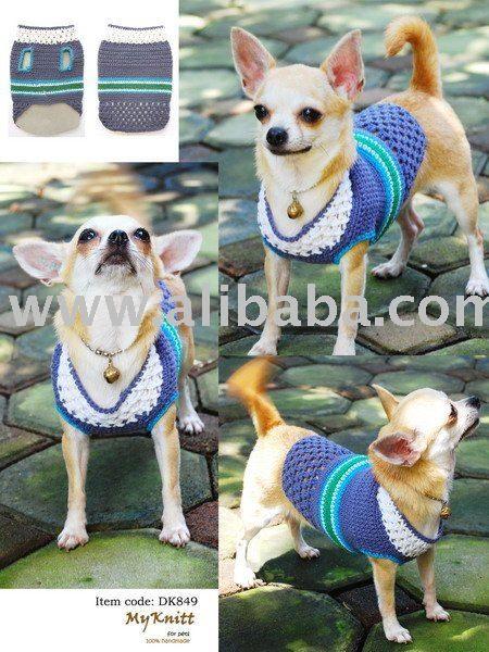 de la mano de punto de ganchillo para perros mascotas ropa y accesorios de,Ropa