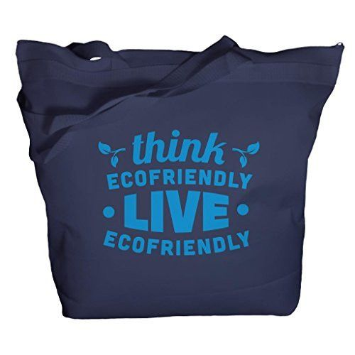 Shirts By Sarah Tote Bag Reusable 50% Recycled Think Eco-Friendly Zippered Top Bags