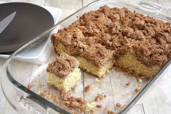 New York-Style Crumb Cake by Tracey's Culinary Adventures
