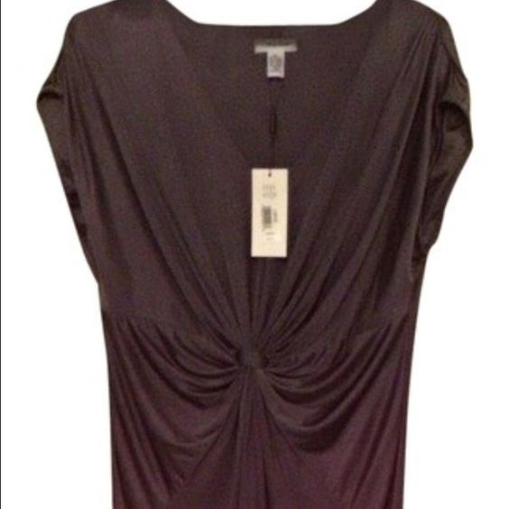 NWT Calvin Klein dress Gorgeous Calvin Klein dress in a smoky plum color. Beautiful draping around waist. Size large. Calvin Klein Dresses Midi