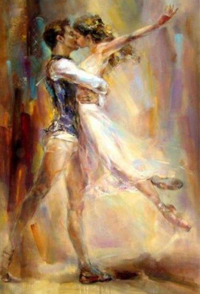 Awesome dancing couple art by Anna Razumovskaya.. | Technology Vista