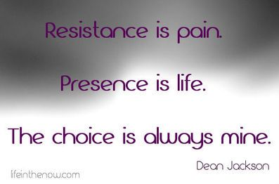 On resistance and presence...