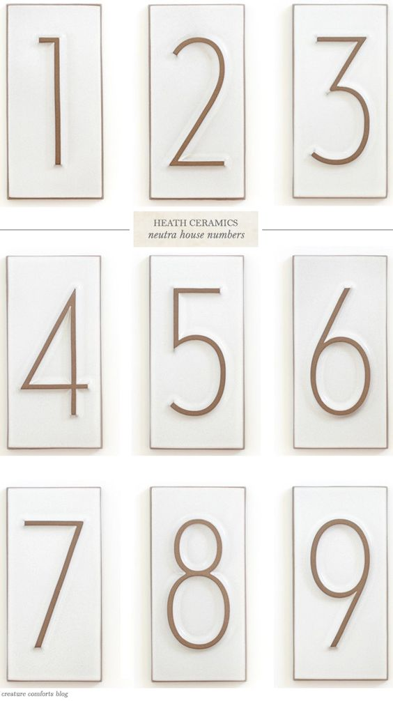 house numbers heath ceramics and numbers on pinterest