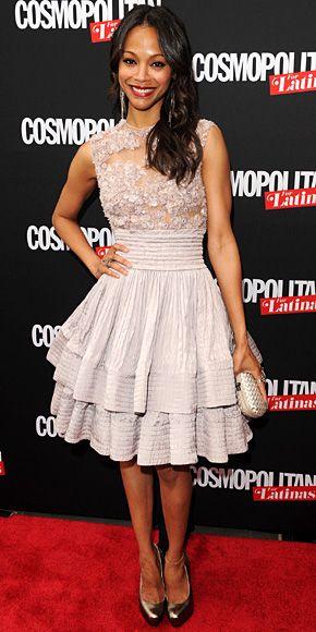 Zoe Saldana (Elie Saab Couture) What a great dress! cc: @InStyle