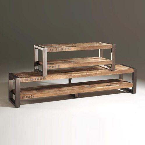 meuble tv isis pm b cosy en bois recycl teck prix meuble. Black Bedroom Furniture Sets. Home Design Ideas