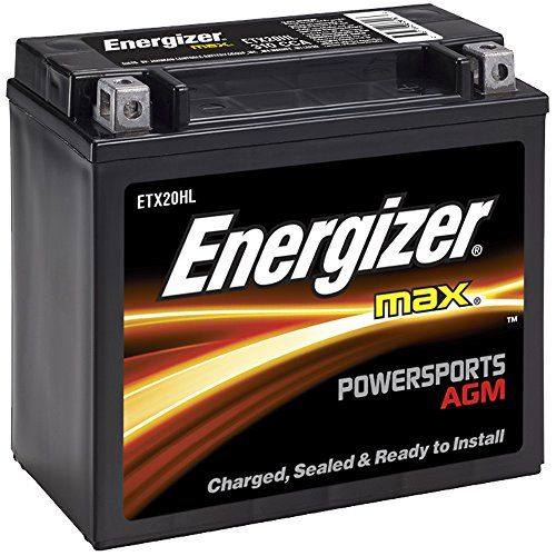 Automotive 12v Agm Ahr Amazon Energizer Etx20hl Agm Motorcycle And Atv 12v Battery 310 Cold Cranking Amp Energizer Motorcycle Battery Performance Engines