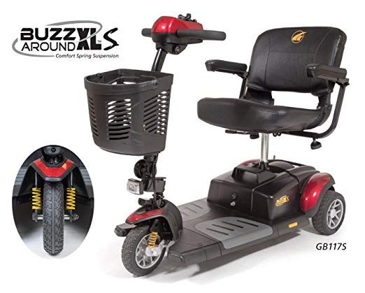 Golden Technologies Buzzaround Xls 3 Wheel Scooter Gb117xls Review 3 Wheel Scooter Power Scooter Electric Scooter For Kids