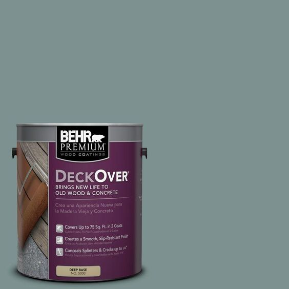 BEHR Premium DeckOver 1-gal. #SC-119 Colony Blue Wood and Concrete Coating
