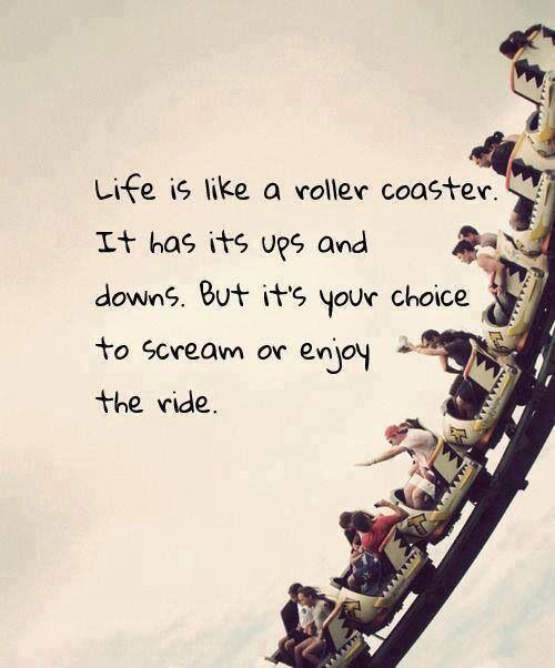 I'm enjoying the ride.