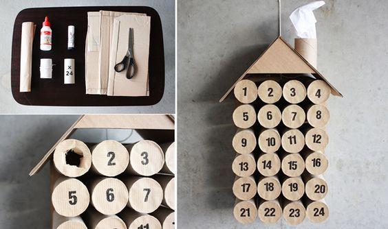 Calendrier de lavent à faire soi-même avec du carton