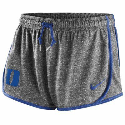 Nike Duke Blue Devils Ladies Tailgate Tempo Shorts - Ash