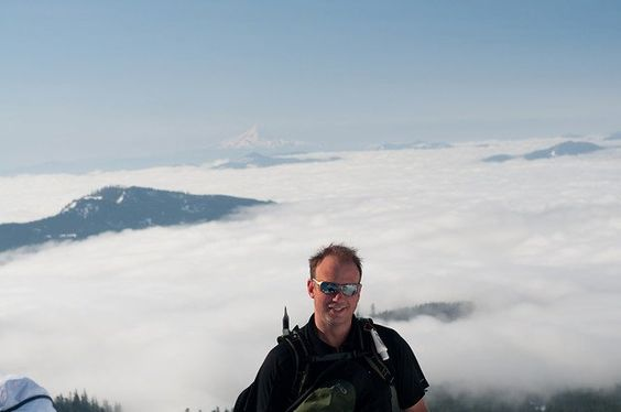 Mike above the clouds