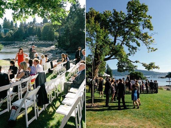 Brock House Wedding Reception Tent Vancouver Venue Beach Side Photographer