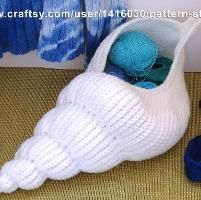 Spiral Seashell Basket   Crochet Pattern-neat things you can do with crochet.